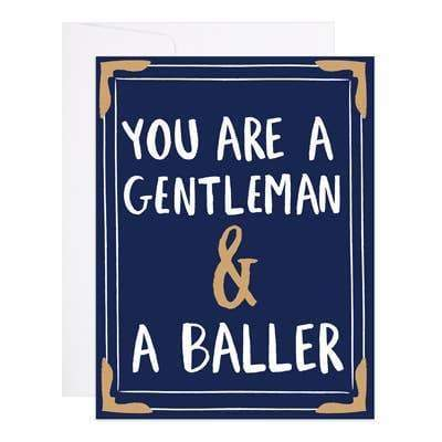 9th Letter Press - Gentleman and a Baller - A2 (5.5 x 4.25)