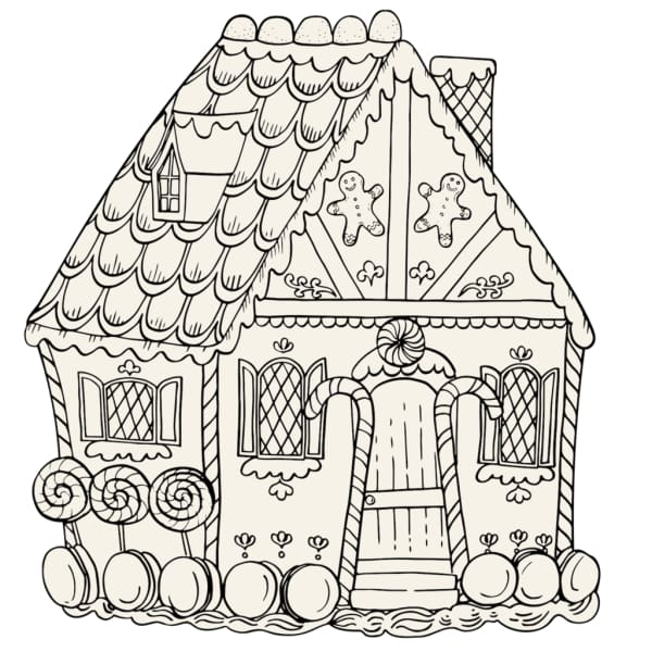 Gingerbread House Coloring Placemats