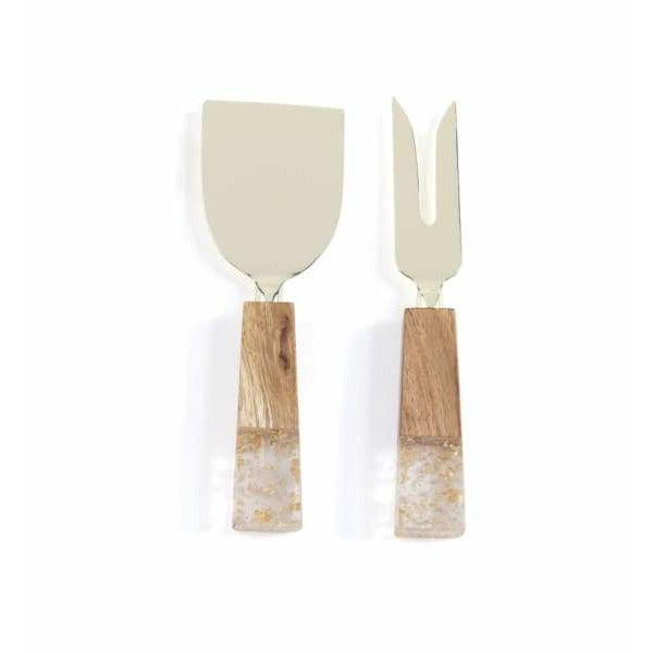 Gold and Wood Cheese Servers