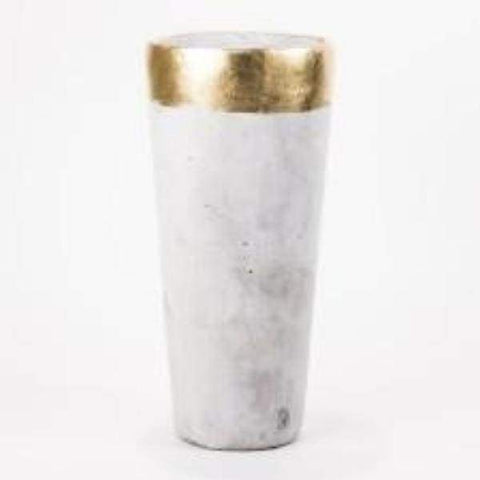 Gold Rimmed Vase - Home Decor