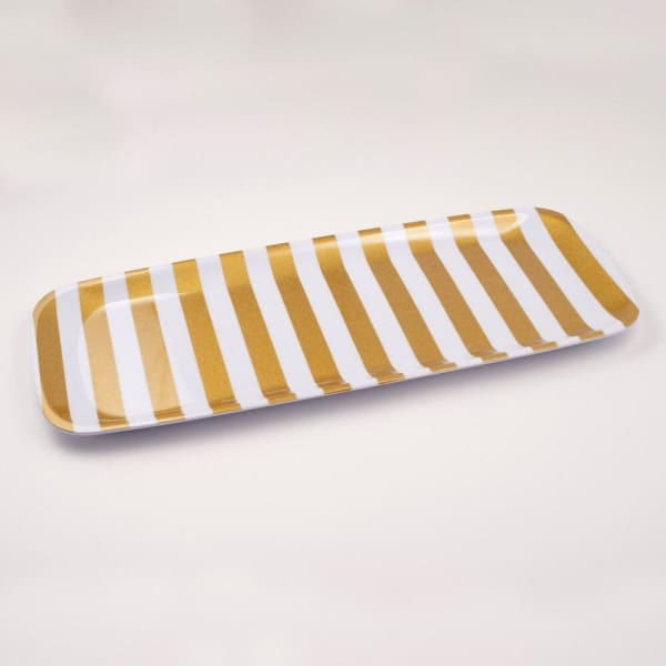 Gold Stripe Tray