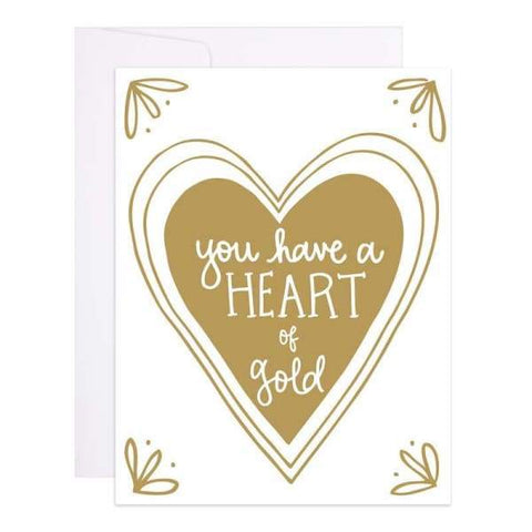 9th Letter Press - Heart of Gold - A2 (5.5 x 4.25)