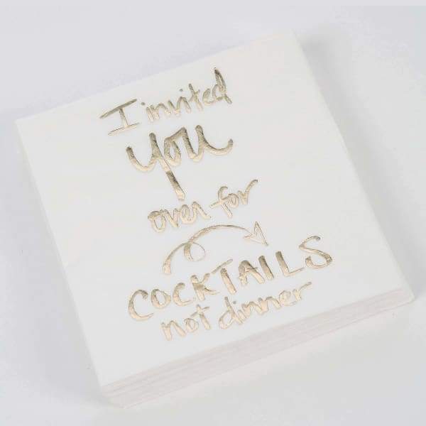 I Invited You Over for Cocktails Beverage Napkin