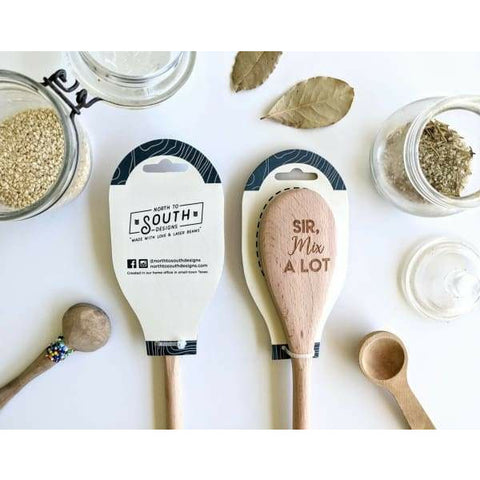 Life Is Short Lick The Spoon Engraved Wooden Spoon