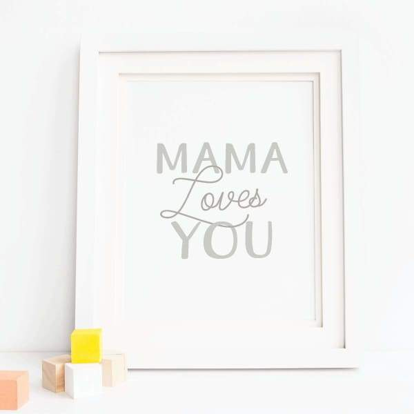 onderkast studio - Mama Loves You Art Print