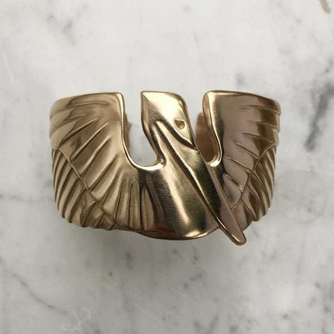 Mimosa Handcrafted Pelican Cuff Bracelet