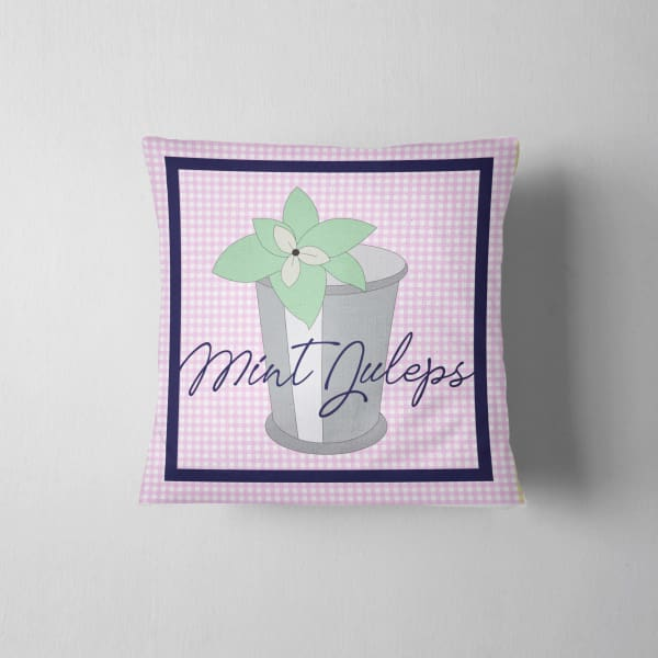 Mint Julep Derby Pillow - Kentucky Derby - Horse Racing