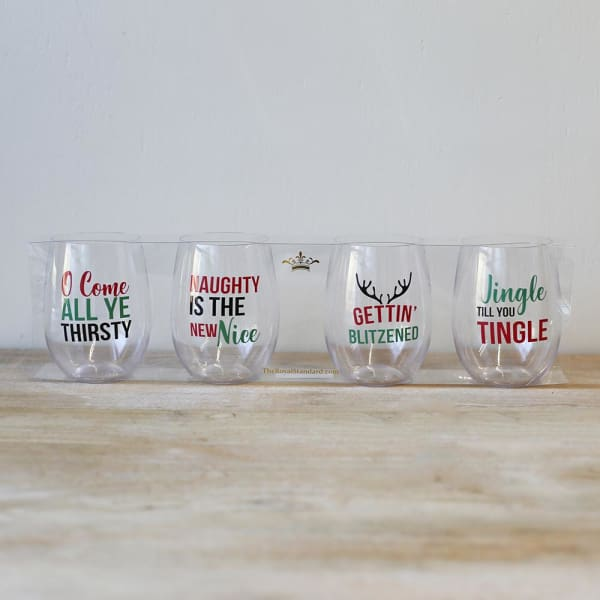 Naughty To Go Wine Glass Set