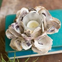 Oyster Flower Votive Candle