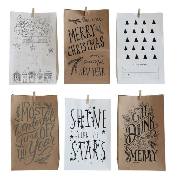 Paper Gift Bags With Clips