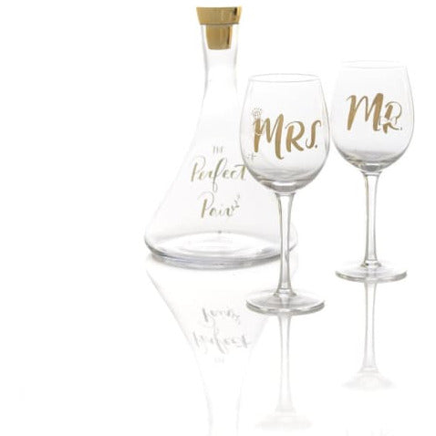 Perfect Pair Decanter and Wine Glass Set