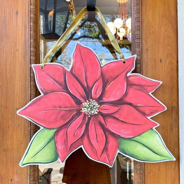 Poinsettia Door Hanger