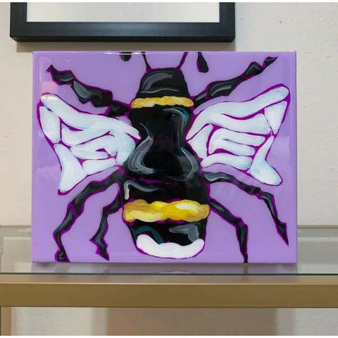 Sarah Katherine Semon Purple Bee Painting