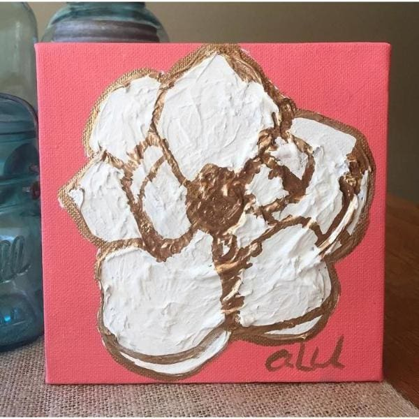 Small Magnolia Painting By Ashley Wachal - Art