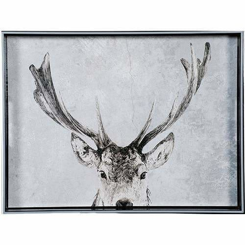 Snowy Deer 15 x 20 Art Tray