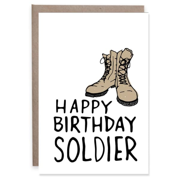 Soldier Birthday - Mini Card - Enclosure Card (3.625 X 2.5)