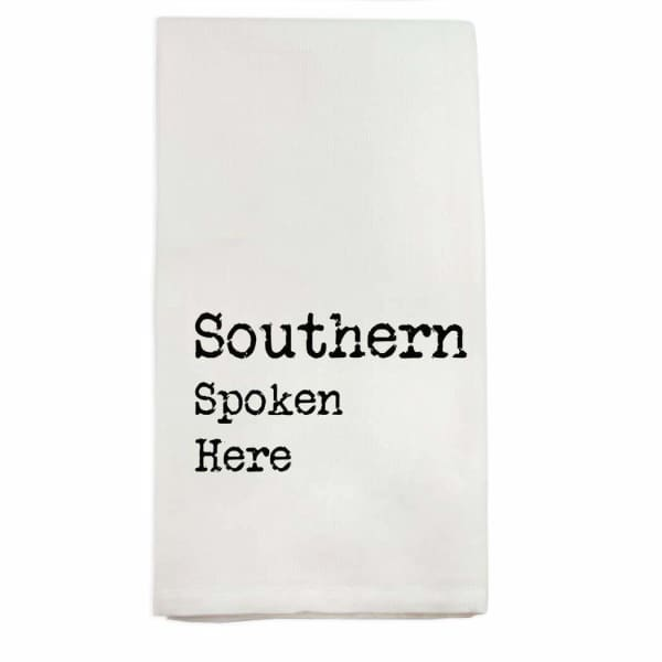 French Graffiti - Southern Spoken Here Dishtowel - default