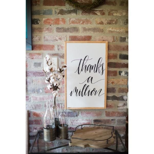 Thanks A Million Wall Print - Wall Decor