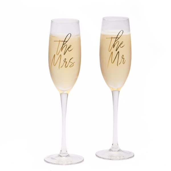 The Mr. and The Mrs. Champagne Glass Set