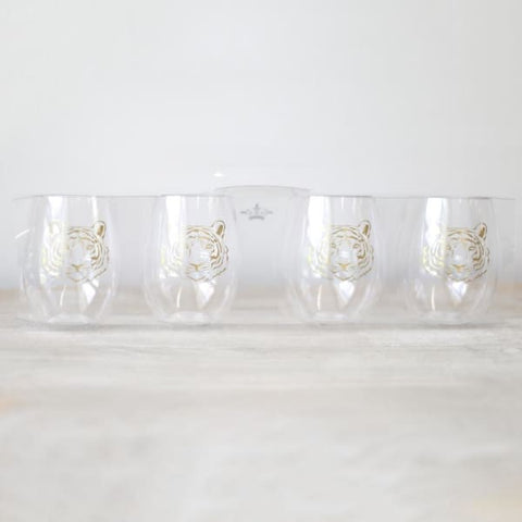 Tiger To Go Wine Cups (set of 4)