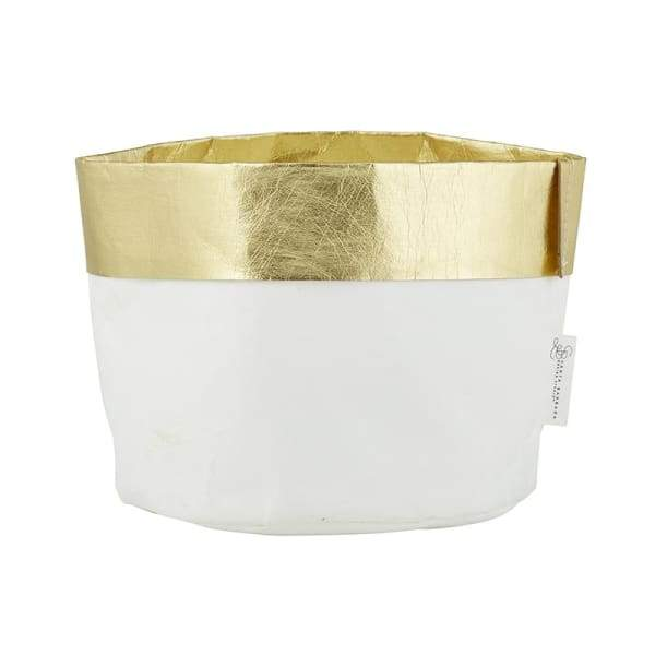 White and Gold Paper Holder (large)