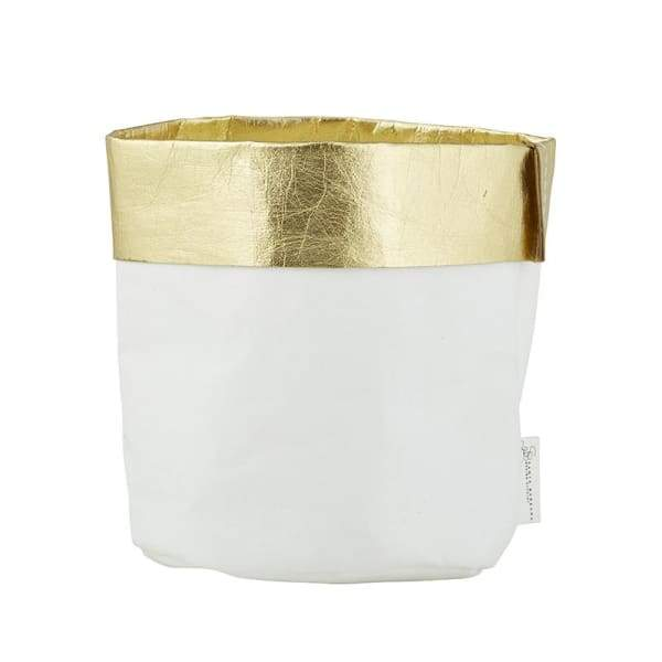 White & Gold Paper Bag (medium)