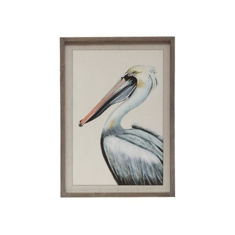 Wood Framed Pelican Print
