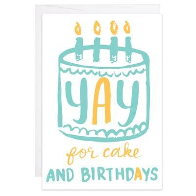 Yay for Cake - Mini Card - Enclosure Card (3.625 x 2.5)