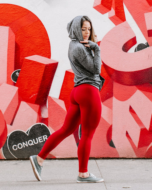 High-ly Recommended Leggings- Queen of Hearts Red