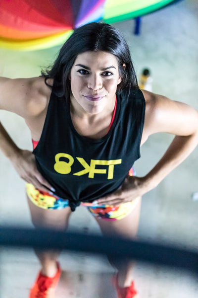 KFT Muscle Tank- Black with Yellow