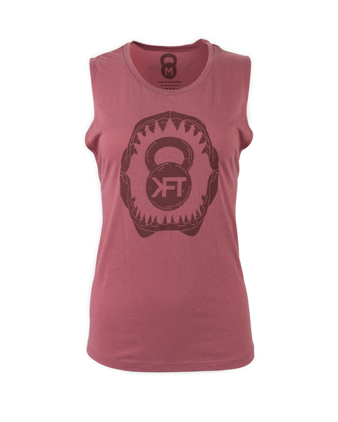 KFT Shark Muscle Tank- Dusty Pink