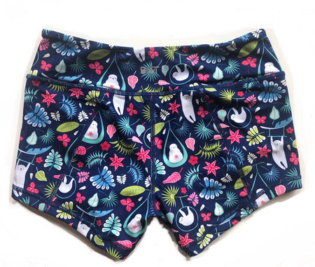 Keep Moving Lined Shorts- Sweet Succulent