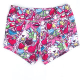 Keep Moving Lined Shorts- Unicorn Party