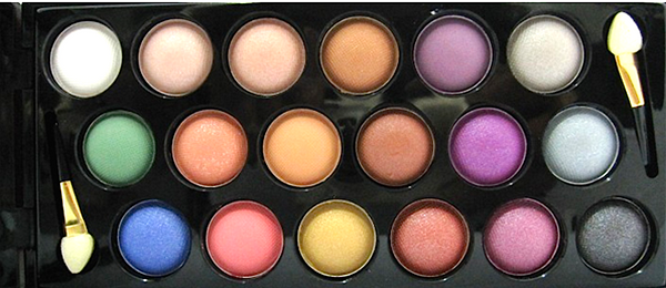 18 Colors - Colorful Shimmer Eyeshadow Palette # 15422