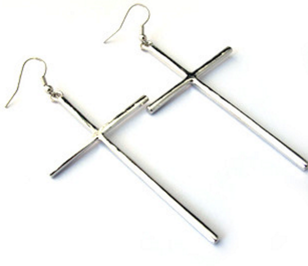 Cross Earrings # 10194