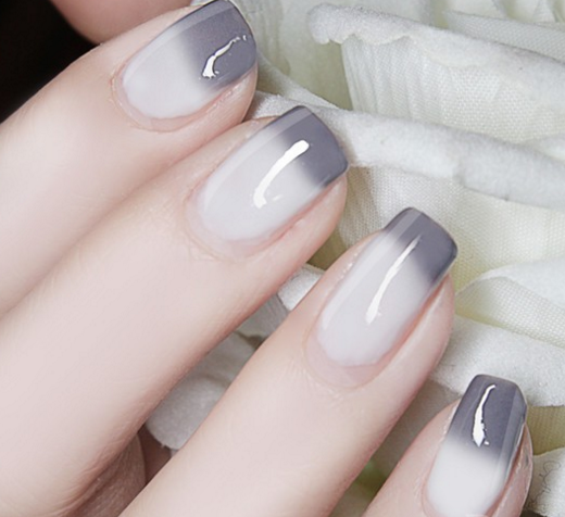 Color Changing Thermal Nail Polish - Gray to White # 23804
