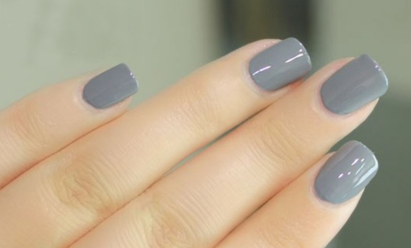 1 Bottle Sweet Color Nail Polish 12ml Gray S001  # 32774