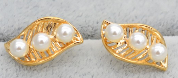 Fashion Hollow Peas Pearl Ear Studs # 24371