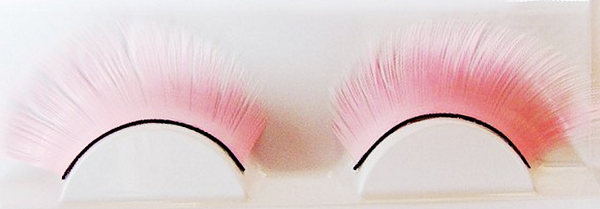1 Pair Pink Yellow Party False Eyelash Kit Soft Long Thick False Eyelash Kit # 19856