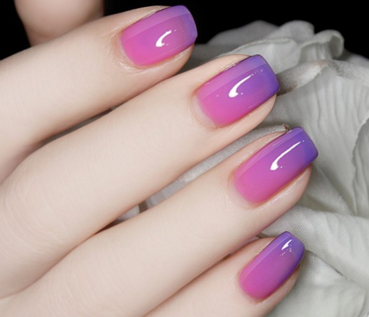 Thermal Color Changing Nail Polish - Purple to Pink # 23815