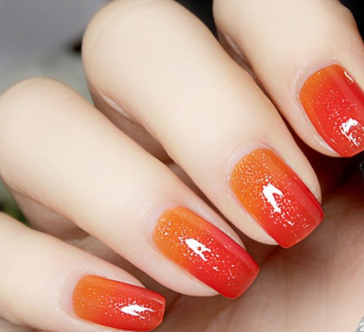 Thermal Color Changing Nail Polish - Red to Orange # 23809