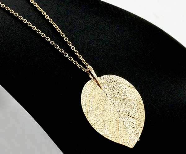 Gold Leaf Necklace - Long # 23942