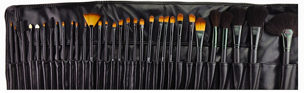 32 Pcs Exquisite Professional Cosmetic Brush Kit With Free Black Bag # 11745