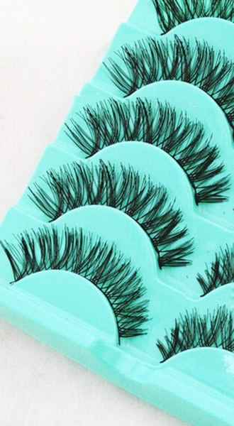 5 Pairs/set Curly Crisscross False Eyelashes - Thick # 21392