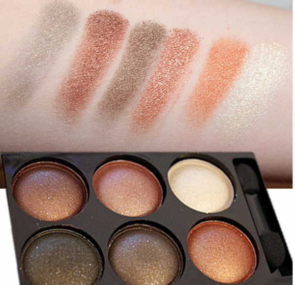6 Colors Shimmer Eye Shadow Case # 9896