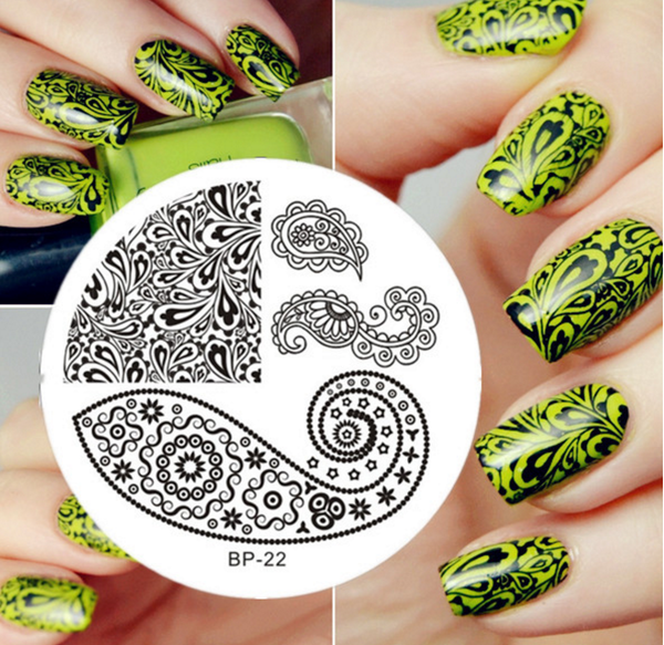 Nail Art Stamp Template BP22 # 17267
