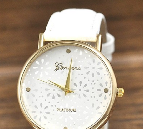 Geneva Candy Color Women Snowflakes Watch # 23185