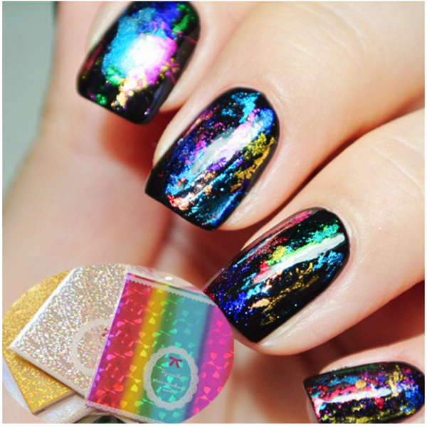 Fantasy Starry Holograph Nail Decoration # 12413