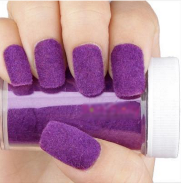 Fun Flocking Powder Nail Art - Purple # 4463