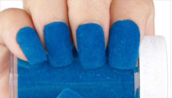Fun Flocking Velvet Powder - Bright Blue # 4464